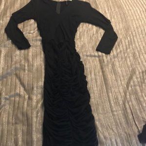 Midi length scrunch dress